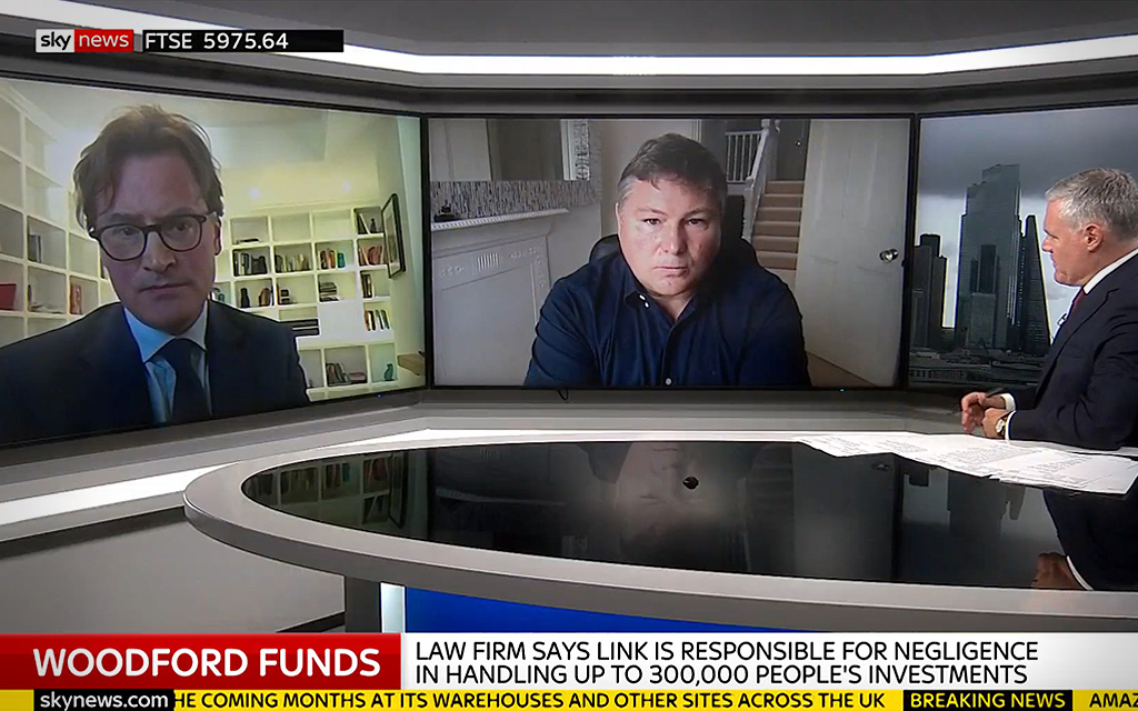 Damon Parker appears on Sky News to discuss Woodford Litigation